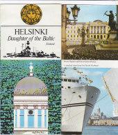 B1652 - MAP - CARTINA FINLANDIA - HELSINKI Ed.1977/SOUTH HARBOUR/CITY THEATRE/KAIVOPUISTO PARK/PIHLAJASAARI ISLAND - Carte Topografiche