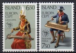 Islande - 1985 - Yvert N° 585 & 586 **  - Europa - Nuovi