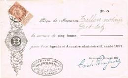 17635. Recibo, Reçu BRUXELLES (Belgien) 1897. Emile Bruylant Comercial - 1905 Breiter Bart