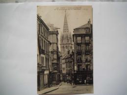 La Rue Aux Namps Et Le Clocher De Saint Sauveur , Belle Carte ,  Animation  , 191..... - Caen