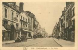 "/ CPA FRANCE 77 ""Fontainebleau, Rue Grande"" - Fontainebleau"