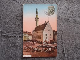 Cpa Estonie 1914 Reval Rathaus - Estonie