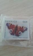 Pin´s Timbre Papillion Suède - Sverige - Animaux