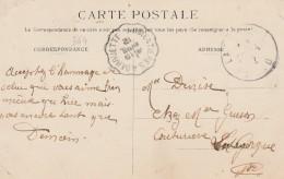 Carte De Lille Pour La Gorgue -cachet Courrier-convoyeur N° 364 (ref. Pothion) Scan Recto-verso