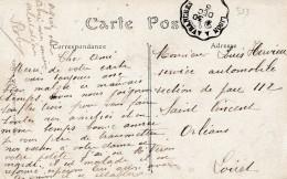 Carte De Granville Pour Orleans  -cachet Courrier-convoyeur N° 533 (ref. Pothion) Scan Recto-verso