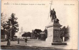 ALGERIE - BISKRA - La Statue De Lavigerie Et Le Royal Hotel - Biskra