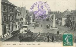 """/ CPA FRANCE 68 """"Dannemarie, Place Des Halles"""" - Dannemarie"""