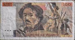 FRANCE 1 BILLET De BANQUE De 100Francs Type Delacroix - 1990 - - 1962-1997 ''Francs''