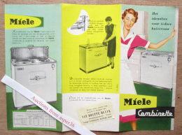 """Brochure """"Wasmachine """"Miele"""" Combinette - Vieux Papiers"""