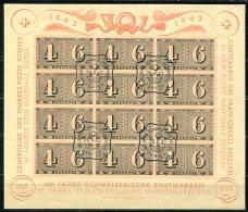 3894 - SCHWEIZ / SWITZERLAND - Block 9, Gestempelt, Ersttagsstempel - Blocks & Sheetlets & Panes