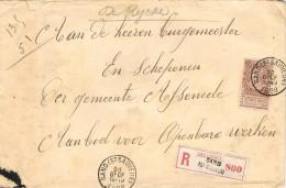 17646. Carta  Certificada GAND (St. Saveur) Belgien 1898 To Assenede - 1905 Grosse Barbe