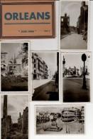 ORLEANS JUIN 1940 DESTRUCTION DE GUERRE CARNET DE 8 VUES - Orleans