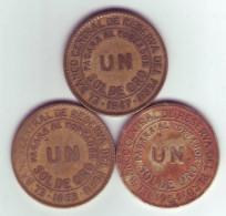 PÉROU Lot De 3 Pièces De 1 (UN) Sol De Oro 1947 1963 1964 - Pérou