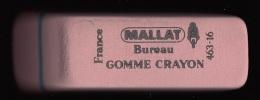 1 GOMME ROSE MALLAT NEUVE BUREAU CRAYON DE PAPIER REFERENCE 463-16 FRANCE 6,3X2X1,6cm FERMETURE LIBRAIRIE PAPETERIE - Ohne Zuordnung