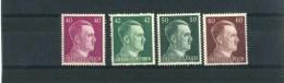 - ALLEMAGNE EMPIRE . 1933/45 . TIMBRES 1941/43 NEUFS SANS CHARNIERE . - Duitsland