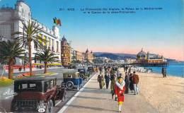 06 - Nice - La Promenade Des Anglais, Le Palais De La Méditerranée Et Le Casino De La Jetée-Promenade (automobiles) - Niza