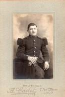 Soldat Du 45ème Régiment D'infanterie - Photographe : A. Cadet à Laon - Guerre, Militaire