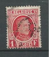 PER129 - BELGIO- PERFIN N. 256 - 1 F. - EFFIGIE DI RE ALBERTO I - CATALOGO UNIFICATO - 1922-1927 Houyoux