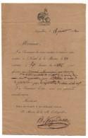 AIGUILLON (Lot Et Garonne) - Convocation à Une Réunion (conseil Municipal ?) 1832 - Coq (ordre Public) En Haut - Documents Historiques