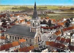 59  - ORCHIES : L'Eglise - Jolie CPSM Dentelée Colorisée GF - Nord - Orchies