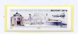 2016 LISA 2 /SALON PHILATÉLIQUE DE PRINTEMPS A BELFORT - 2010-... Vignettes Illustrées