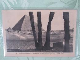 GUIZAH . PYRAMIDE DE CHEOPS . IV E DYNASTIE - Pirámides
