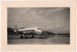 Photo Originale  Aviation Avion Air France DC3 Aéroport Ajaccio Départ Pour Paris - Aviation