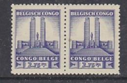 Belgisch Congo 1941 Monument Koning Albert I Te Leopoldstad 2,75Fr  1w (paar) ** Mnh (29278) - Belgisch-Kongo