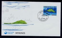 MYKINES Landescape FAROE ISLANDS Faroese Birds Oiseaux TJALDUR Faune Animals Fdc 1978 Maps Geopgraphy Gc2106 - Unclassified