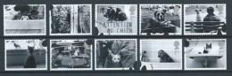GROSSBRITANNIEN GRANDE BRETAGNE GB 2001 CATS-DOGS SET OF 10 USED SG 2187-96 MI 1914-23 SC 1953-62 YV 2226-35 - Used Stamps
