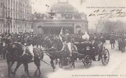 Evènements - Réception Souverains Italie Paris  - Gare Attelage Roi Président - Militaria Garde Républicaine - Réceptions