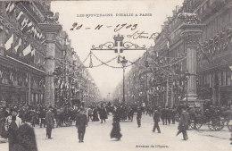 Evènements - Réception Souverains Italie Paris  - Immeubles Avenue De L'Opéra - 1903 - Réceptions