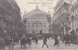 Evènements - Réception Souverains Italie Paris  -  Opéra - Drapeau Américain - Réceptions