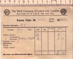 SHELL Company Of Latvia Ltd London-Cashier's Check-1934 - Historische Dokumente