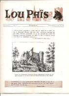Lozère Lou Païs Revue Régionaliste N°140 15 ème Année Novembre 1967 Ruines Du Château De La Garde Du Marquis Jean-Joseph - Turismo E Regioni