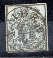 HANOVRE.  AÑO 1850.  Mi 1 (USED) - Hannover