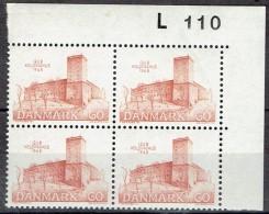 DENMARK  # FROM 1968  BLOCK  OF 4 :  L 110** - Nuovi