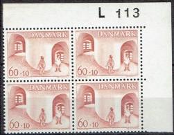DENMARK  # FROM 1968  BLOCK  OF 4 :  L 113** - Nuovi