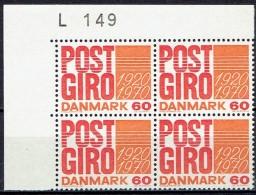 DENMARK  # FROM 1970  BLOCK  OF 4 :  L 149** - Nuovi