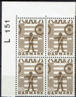 DENMARK  # FROM 1970  BLOCK  OF 4 :  L 151** - Nuovi