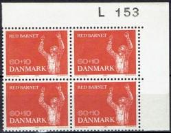 DENMARK  # FROM 1970  BLOCK  OF 4 :  L 153** - Nuovi