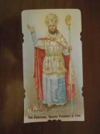 San Paterniano, Vescovo Protettore Di Fano  -  PREGHIERA   (santino Fustellato) - Santini