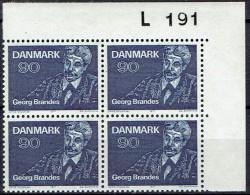 DENMARK  # FROM 1971  BLOCK  OF 4 :  L 191** - Nuovi