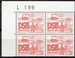 DENMARK  # FROM 1972  BLOCK  OF 4 :  L 199** - Nuovi