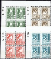 DENMARK  # FROM 1972  BLOCK  OF 4 :  L 217 - L 220** - Nuovi