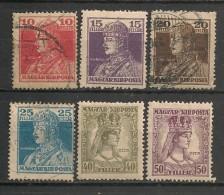 Timbres - Hongrie - 1918 - Lot  De 6  Timbres -