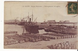 Cpa  Sete   Débarquement De Vapeur - Sete (Cette)