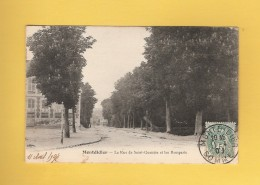 * CPA..dépt 80..MONTDIDIER  :  La Rue De Saint Quentin Et Les Remparts  : Voir Les 2 Scans - Montdidier
