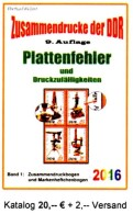 Zusammendrucke RICHTER Katalog 2016 DDR Teil 4 Abarten In Bogen-ZD Neu 20€ Se-tenant Error Special Catalogue GDR Germany - Sonstige