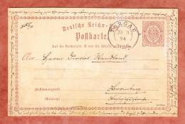 P 1 Wappen, Torgau Nach Bromberg 1874 (29649) - Ganzsachen
